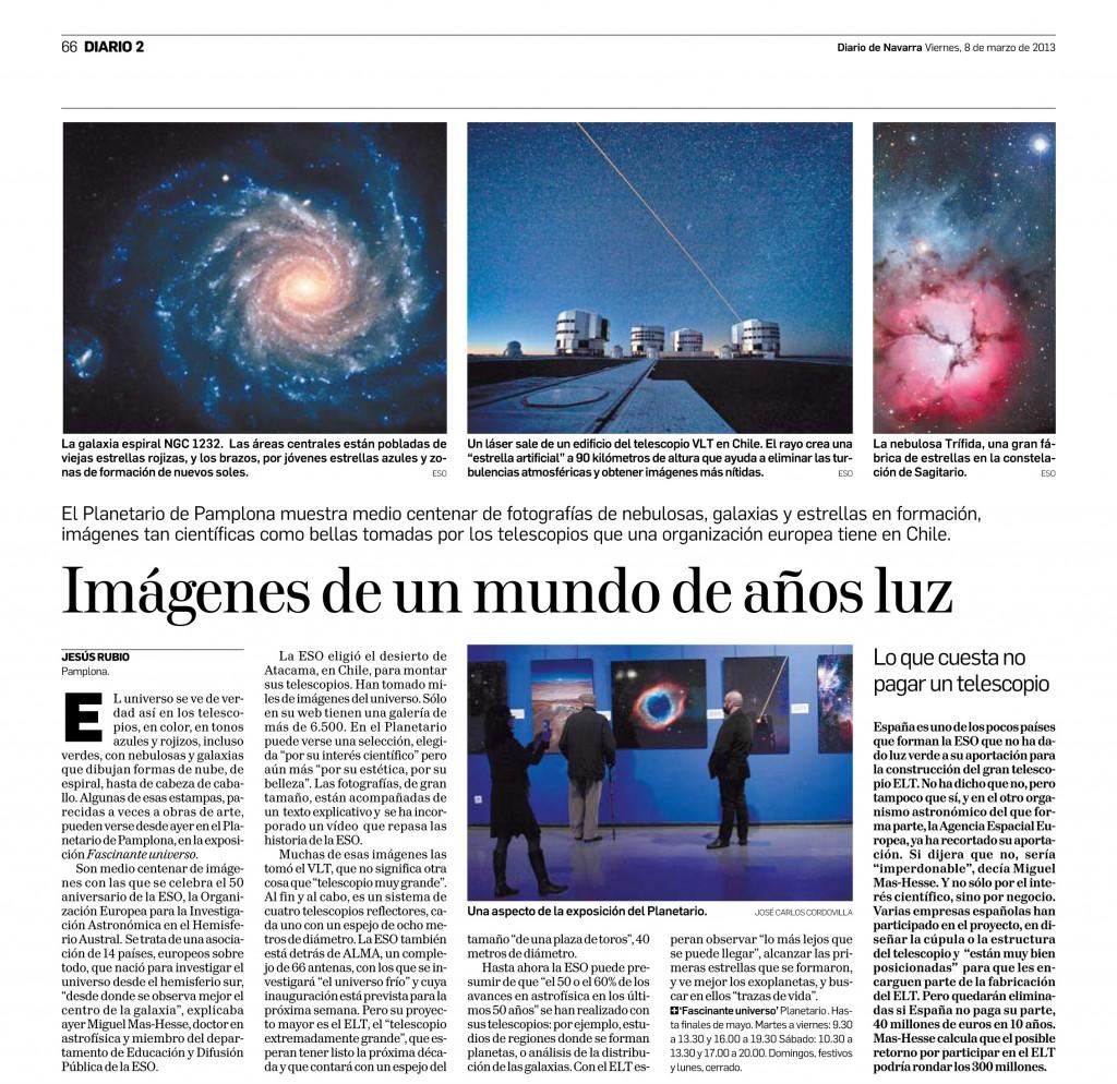 Planetario de Pamplona en Diario de Navarra